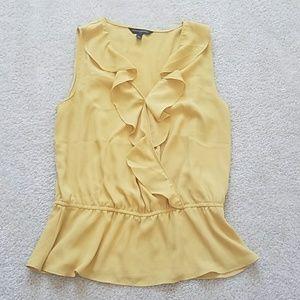 Banana Republic mustard yellow blouse